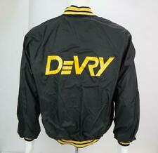 Vintage Devry University Men's Varsity Button Jacket Black M