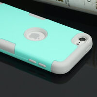 For Apple iPod Touch 5 6th Case Generation Hybrid Protective Silicon Hard Cover