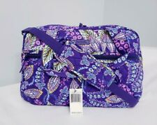 Vera Bradley COMPACT Traveler Bag Batik Leaves NWT