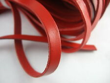 2 Meters 10mm Flat Black/Brown/Green/Red Genuine Real Leather Cord 10x2mm