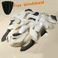 ABS Unpainted White Fairing Bodywork Kit For Kawasaki Ninja ZX10R ZX-10R 06 07