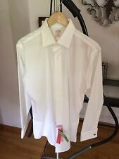 NEW BROOKS BROTHERS Men's White 346 Non Iron French Cuff Shirt 15 1/2-33