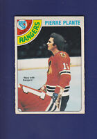 Pierre Plante 1978-79 O-PEE-CHEE OPC Hockey #179 (VGEX+) New York Rangers