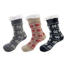 Extra Thick Fuzzy Thermal Fleece-lined Knitted Crew Socks Assortment B