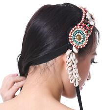 Beaded Braided Headband Boho Hippie Tassel Hairband Indian Tribal Fascinator