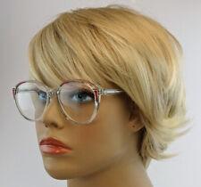 Retro Lesebrille Damen Nostalgie Vintage Stil groß transparent Nerdbrille LS31
