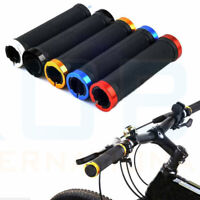 DOUBLE LOCK ON LOCKING BMX MTB MOUNTAIN BIKE CYCLE BICYCLE HANDLE BAR GRIPS SET