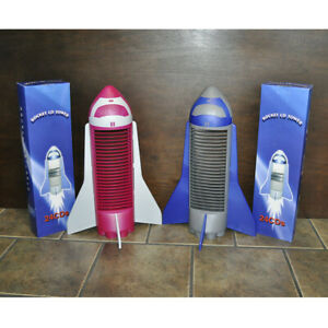 Rocket CD Towers - Holds 24 CDs - Your Color Choice of Pink or Blue