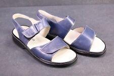 C1245 Berkemann Damen Fußbett Comfort Sandalen Leder blau Gr. 39 (6) Klett NEU