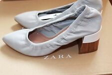 New Zara Medium Heel Gathered Leather Shoes Size 6  Second item ship for free