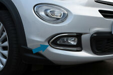 Chrome Fog Light Lamp Trim Covers Accents Set To Fit Fiat 500X (2014-18)