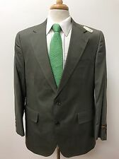 NEW $795 Brooks Brothers Men's Olive Green Cotton Blend Suit Size 42R 40x39 NWT