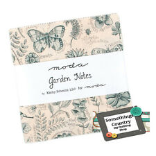 Moda Charm Pack GARDEN NOTES Patchwork Sewing Quilting 5 inch Squares Fabric New