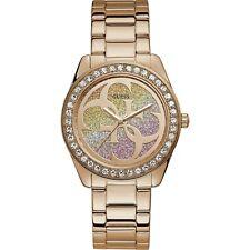 OROLOGIO GUESS G TWIST W1201L3 watch ACCIAO ORO ROSA DONNA 40 MM LOGO CRISTALLI