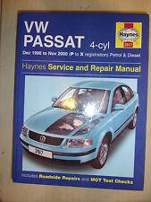 VW VOLKSWAGEN PASSAT HAYNES MANUAL PETROL +TURBO +Td TURBODIESEL 1996-00 P-X