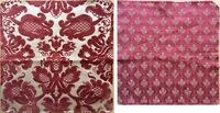 Lovely 1940's Cut French Velvet Woven Damask  & A 19th C. Jacquard Leaf Fabric
