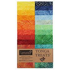 Timeless Treasures Rainbow Color Wheel Tonga Batik Strip Junior