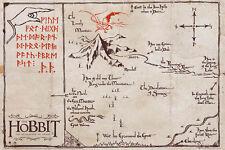 "THE HOBBIT POSTER ""MOUNTAIN MAP""  PARCHMENT PAPER ""BRAND NEW"" SIZE 66cm X 46cm"