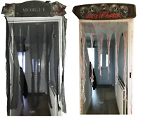 Halloween Door Topper Header Bloody Bandage/Black Curtain Decoration 90 x 150cm