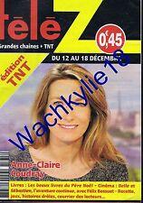 Télé Z n°1735 du 12/12/2015 Anne-Claire Coudray