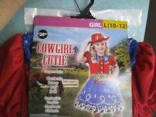 NEW WITH TAGS  COWGIRL  HALLOWEEN  PLAY  COSTUME  GIRLS   SIZE  LARGE (10-12)