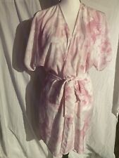 Secret Treasures Satin Robe Floral Pink & White Small