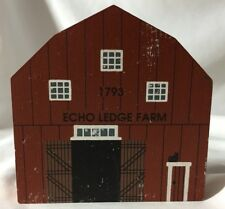 Vtg 1993 The Cat's Meow 1793 Echo Ledge Farm American Barn Series Vermont Faline