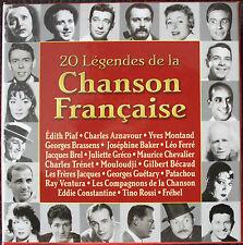 20 LÉGENDES DE LA CHANSON FRANÇAISE   20CD