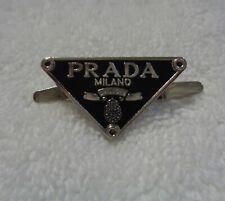 """Prada Milano Metal Logo Plate Hardware  1"""" x 3/4"""""""
