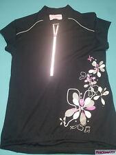 Skirt Sports Womens Reflective Black Floral Cycling Jersey size Medium