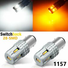 JDM ASTAR 2x 1157 Dual Color Switchback 12-SMD White Amber LED Turn Signal Light