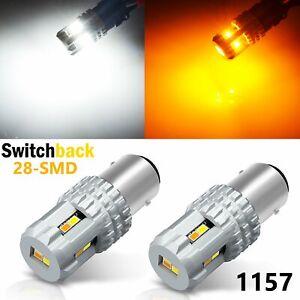 JDM ASTAR 2x 1157 Dual Color Switchback 12-SMD White Amber LED Turn Signal Light