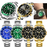 Luxury Mens Watch Stainless Steel Calendar Dial Analog Quartz Dress Wrist Watch