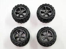 Traxxas Gemini Blk Chrome Wheels w/ Talon Tires Front / Rear 1/16 E-Revo / VXL