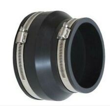 """Rubber Coupling Flexi  4"""" Clay to Plastic 110mm Soil Underground Adaptor connect"""