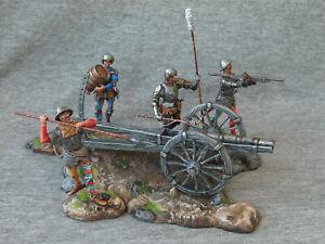 Mercenaries with a gun. 15th century. 54 mm. Elite tin soldiers St. Petersburg