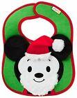 Hallmark Itty Bittys Disney Baby Holiday Christmas Santa Clause Mickey Mouse Bib