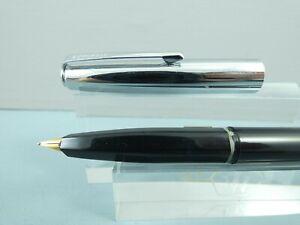 """Vintage Osmiroid Black/Steel Fountain Pen, CT, GP Nib, Needs Filler/Sac """"Repair"""""""