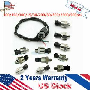 Pressure Transducer Or Sender Sensor 150PSI For Oil Fuel Air Water