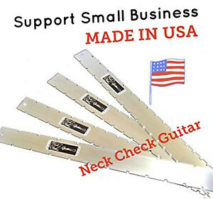 GUITAR NECK STRAIGHT EDGE (Notched)-COMPLETE SET -LUTHIER TOOL