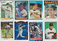 Lot of 11 Will Clark + Matt Williams Cards w/ 6 rookie RC 1986 Topps 1987 Giants