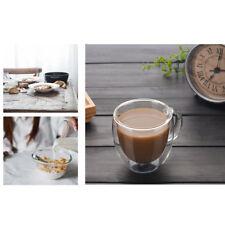 Isolation tasse à café expresso thé coupe verre thermique Double couche Mugs