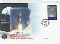 solomon islands 30th anniversary moon landing stamps cover 1999 ref 19470
