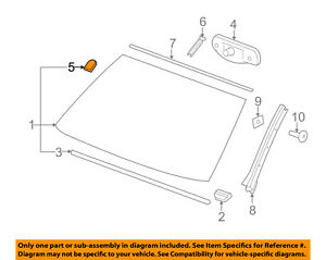 GM OEM Windshield-Mirror Inside Bracket 25653132