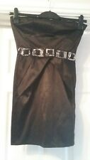BEAUTIFUL MISO BLACK STRAPLESS PARTY DRESS SIZE 10