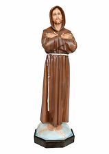 Saint Francis of Assisi resin statue cm. 103