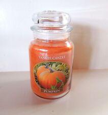 Yankee Candle Pumpkin Large 22 oz. Jar Candle Fall New Unlit USA 110-150 Hr