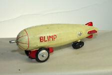 Antique Vintage Style Cast Iron Folk Art Blimp Zepplin Toy