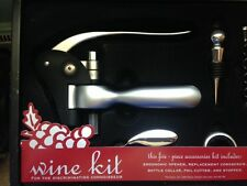 NEW 5 Piece Wine Opener and Accessories Kit Set