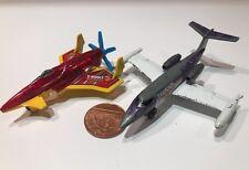 x2 Die cast PlanesMatchbox Skybuster Lear Jet Fedex HOTWHEELS POISON IVY